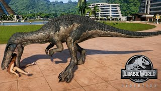 Jurassic World Evolution - Baryonyx & Carnotaurus Breakout & Fight! (1080p 60FPS)
