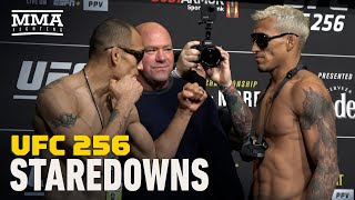 UFC 256 Weigh-In Staredowns - MMA Fighting