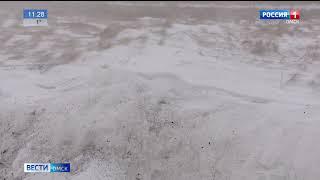 Из-за непогоды вновь закрыли участки трассы, связывающий Омскую область с Казахстаном