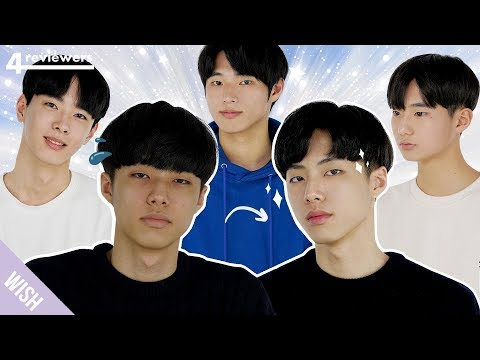 Korean Guys Try K-Pop Idol Makeup & Beauty Products For the First Time | 4 Reviewers