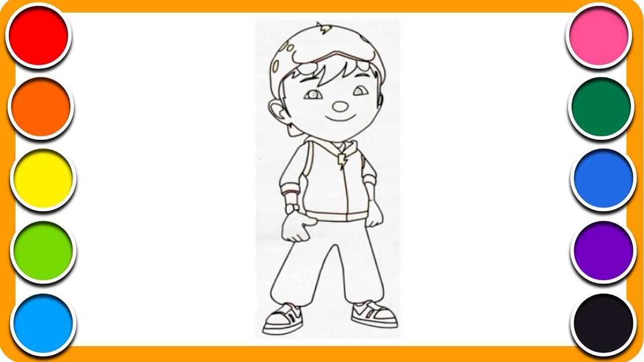 Lukis Gambar Boboiboy Mewarna Kartun Kanak Kanak