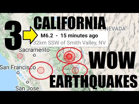 BREAKING! 3 BIG California Earthquakes within 2 Minutes?! 6.2 First Reading!