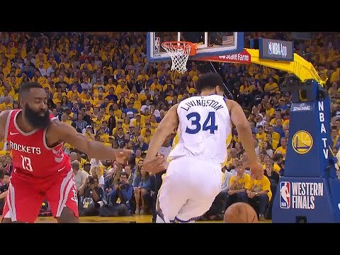 Shaun Livingston Crosses James Harden Over! Warriors vs Rockets Game 3