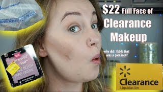 Full Face of Clearance Makeup | Walmart Clearance Section | Flower Beauty