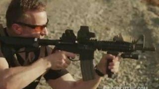 Gubernatorial candidate shoots massive machine gun in ad