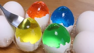 How to make Colorful Egg Jello for Easter Cooking Idea