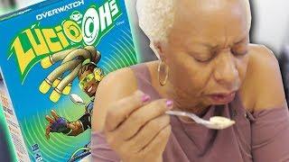Grandma tries Overwatch food