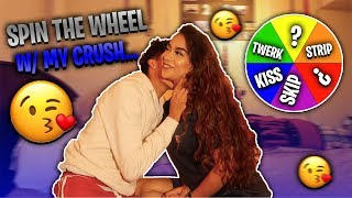 Spin The MYSTERY Wheel Challenge w/My Crush! *Gone Right*