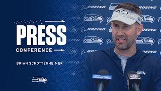 Seahawks Offensive Coordinator Brian Schottenheimer OTAs Press Conference