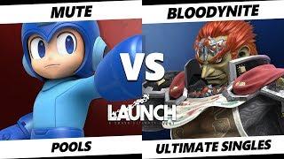Smash Ultimate Tournament - Mute (Mega Man)  Vs. Bloodynite (Ganondorf) - Launch 2 Swiss Pools
