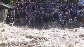 Cả Làng Kéo Đi Xem Xả Lũ Ở Đập Trà Sư/flood