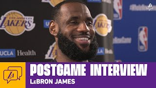 Lakers Postgame: LeBron James (8/10/20)