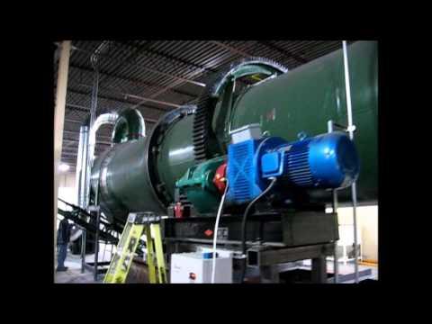 3.5 Million BTU/Hr Rotary Kiln Thermal Drum Grain Dryer System Gas Fired