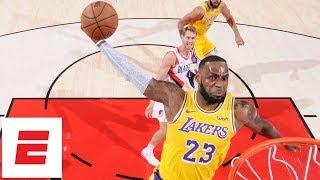 LeBron James makes debut, Lakers lose season opener vs Blazers   NBA Highlights