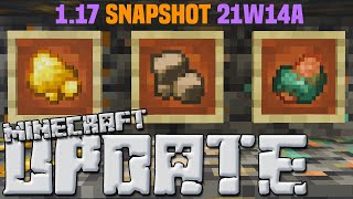 Minecraft 1.17 Snapshot 21w14a: RAW IRON, GOLD & COPPER (New Fortune Features)