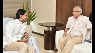 Niti Aayog VC Rajiv Kumar meets CM YS Jagan..