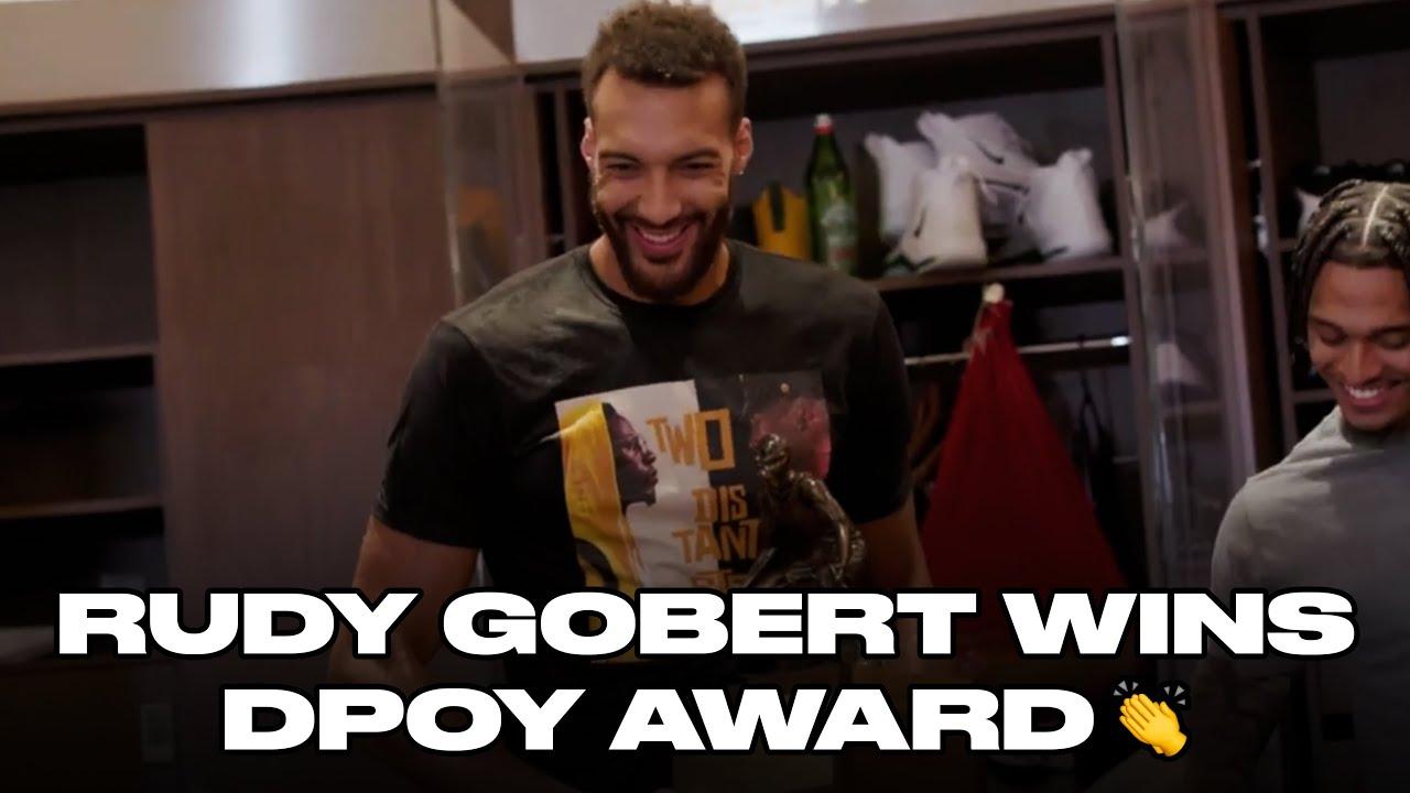 Utah Jazz Surprise Rudy Gobert With DPOY Trophy | NBA on TNT