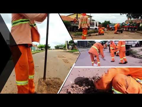 Operação tapa-buraco chega na Avenida Cristóvão Colombo, na Trizidela, e segue firme em vários pontos da cidade