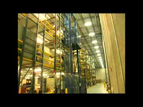 Autoquip's Mechanical Freight Lift Travels 4 Levels