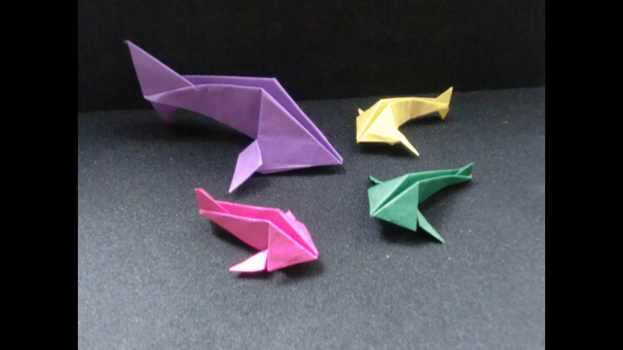 origami fisch faltanleitung hd deutsch youtube. Black Bedroom Furniture Sets. Home Design Ideas