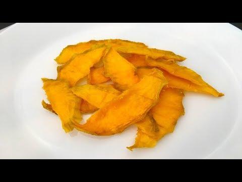 喜欢吃芒果干不用出去买了,教你制作芒果干,酸酸甜甜,简单易做