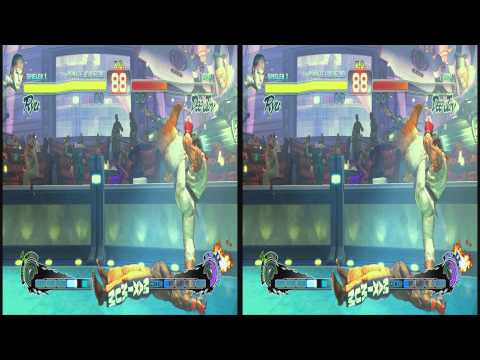 (3D & 4K) Super Street Fighter 4 3840x2160 Ryu vs Deejay (Ultra HD) Oculus