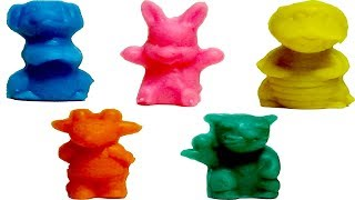 Making Play-Doh With Cartoon Doll Shape Set / Color Learning Video For Kids In Bing Bing Kids.