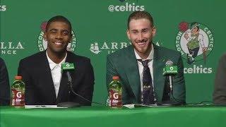 Kyrie Irving already setting up Gordon Hayward with jokes | ESPN