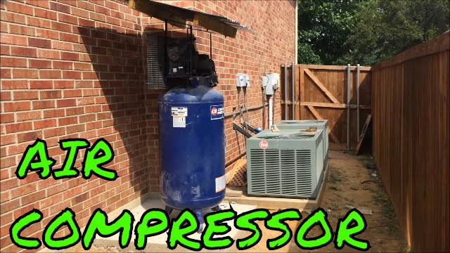 Moving Air Compressor Outside Installing Automatic Drain
