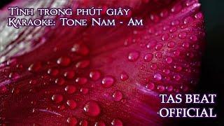 Karaoke Tình trong phút giây - Tone Nam