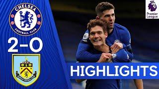 Chelsea 2-0 Burnley | Tuchel's First Win as Azpilicueta & Alonso Score! | Highlights