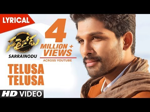 Sarrainodu-Movie-Telusaa-Telusaa-Full-Song