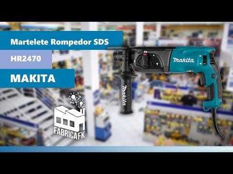 Martelete Rompedor Sds 800W Com Maleta Hr2470 Makita - 127V - Vídeo explicativo