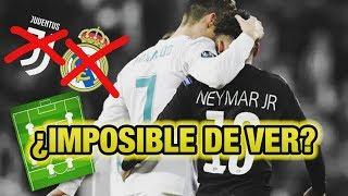 Cómo JUGARÍA Neymar en la Juventus con Cristiano Ronaldo y en el Real Madrid