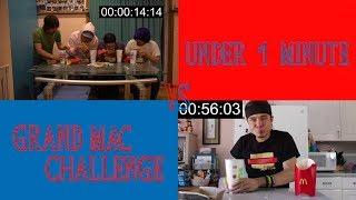 EATING GRAND MAC MEAL UNDER 1 MIN!! (Beating Matt Stonie?!)