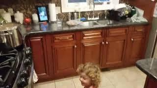 "Baby dancing to Funky White Sister's ""Work it"" by Missy Elliott"