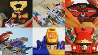 All DX Gattai Samurai Sentai Shinkenger 2009! DX 侍戦隊シンケンジャー! Power Rangers Samurai Megazord!