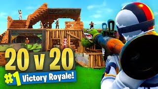 *NEW* LIMITED 20 VS 20 Mode GAMEPLAY Fortnite Battle Royale!