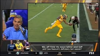 Was Jeff Fisher The Reason Behind Jared Goff and Case Keenum's Deficiency Last Season ??
