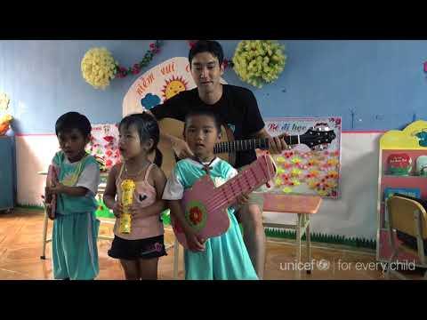[유니세프가 간다] 최시원 특별대표, 베트남 소외 지역 어린이들을 만나다