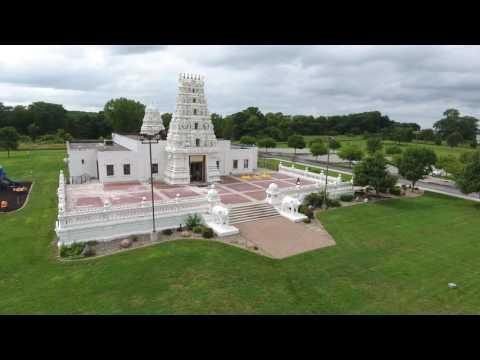 Hindu Temple At Marid Iowa, DJI Phantom 4 Drone Video [4K]