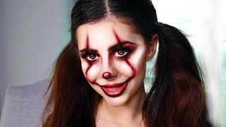 More Last-Minute DIY Halloween Costume Makeup Ideas (IT PENNYWISE CLOWN TUTORIAL)