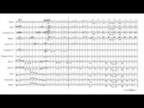 Sheet music - Beethoven Symphony No. 5, Mvt. I (HD)