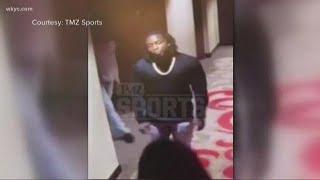 Video shows NFL star Kareem Hunt kicking, shoving woman