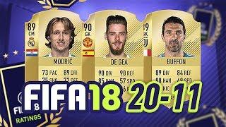 20-11! - FIFA 18 ULTIMATE TEAM RATINGS! #FIFA18RATINGS