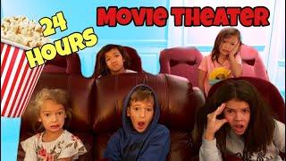 24 HOURS OverNighT LOCKED INSIDE Movie Theater!!