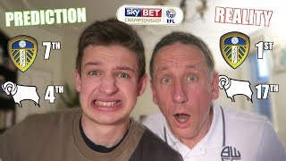 REACTING to our Championship PREDICTIONS 2019/20 *GONE WRONG*