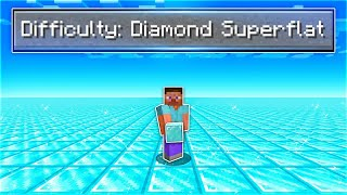 I Beat Minecraft in a Diamond Super Flat World..