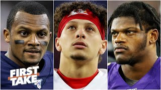 Which QB is Patrick Mahomes' biggest rival: Deshaun Watson or Lamar Jackson? | First Take