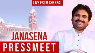 Pawan Kalyan Press Meet From Chennai- Live..